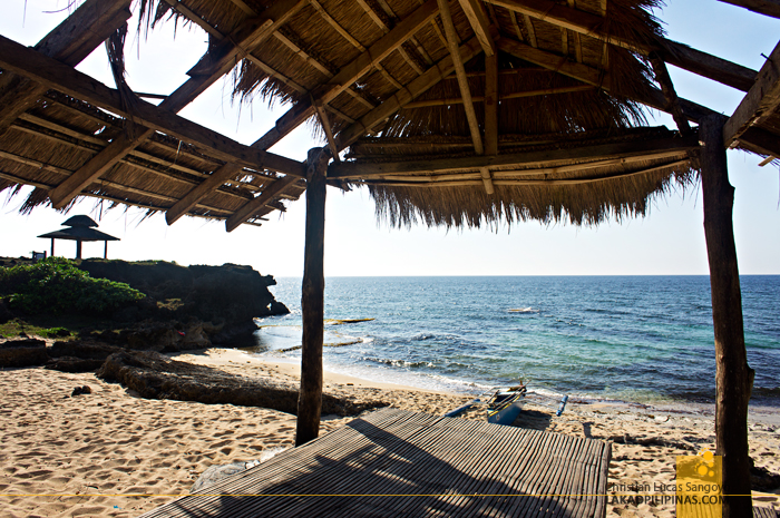 Beachside Huts at the Rock View Beach Resort in Patar, Bolinao