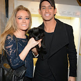 WWW.ENTSIMAGES.COM -    Cat and Ollie Locke   at      Whistle and  Bango  launch party at Wolf and Badger, London October 23rd 2014Ashley James, Ania Kubow and Rosie Parkes are showcasing their new brand and bracelets at a celebrity studded press launch                                                 Photo Mobis Photos/OIC 0203 174 1069