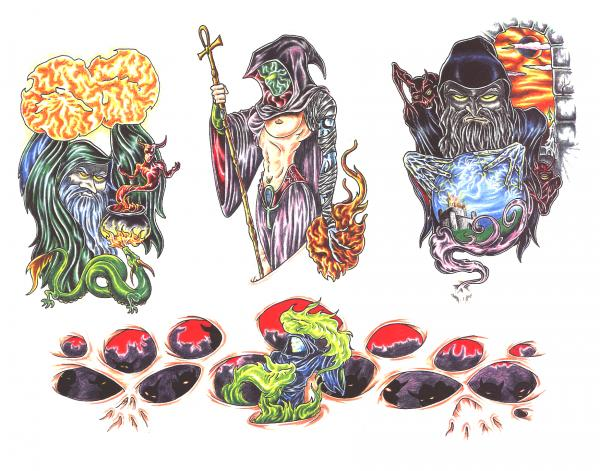 Design Of Silent Tattoo 5, Fantasy Tattoo Designs