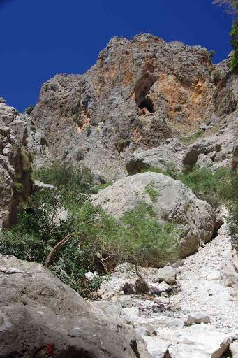 Gorges d'Aradena (Φαράγγι Αράδαινας) : le point où j'ai dû faire demi-tour.