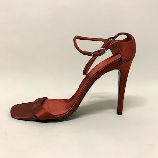 Calvin Klein Collection Oxblood Satin Shoes