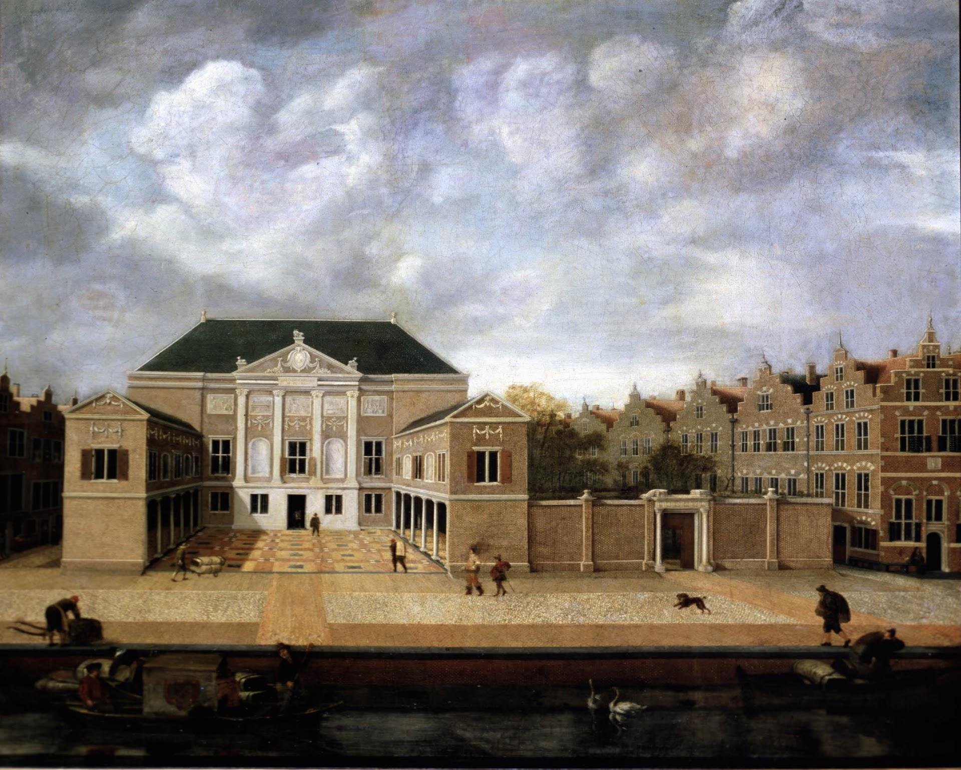 Gezicht op de Lakenhal te Leiden