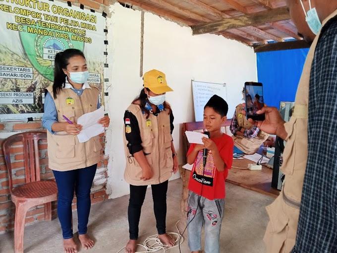 Kuliah Kerja Nyata, Mahasiswa UPRI Makassar Gelar Lomba Adzan dan Puitisisasi