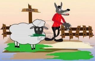 EL lobo harto y la oveja