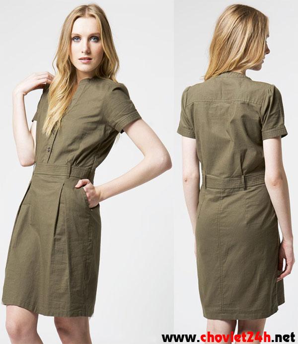 Váy tay ngắn Sophie Grenia