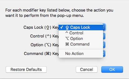 Your modifier key choices