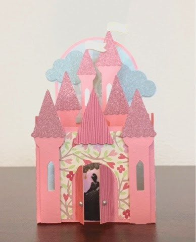 Papercraft & Pictures Princess Castle 3D Box Card