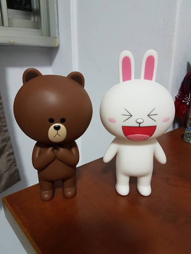 Brown and Cony figurines from Line Friends Store Taipei