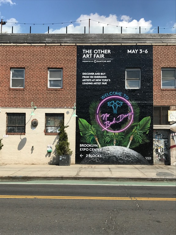 Welcome to No Bad Days by Fei Alexeli - Mural (2) Brooklyn 2018