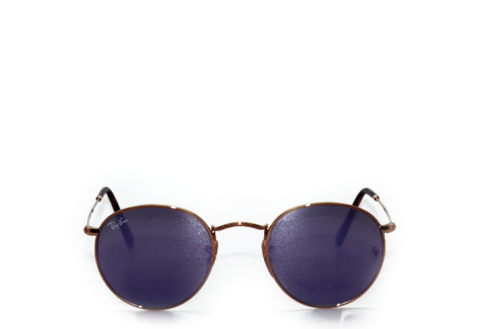 Ray Ban Round Metal Gold Lilac