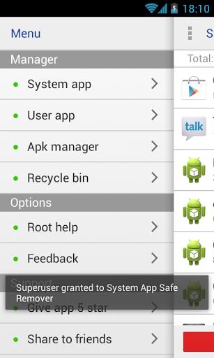 Recycle Bin tempat system app yang telah di buang