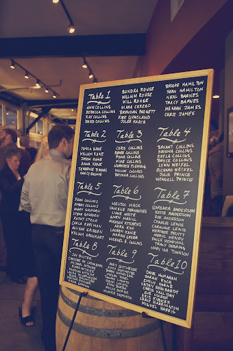 chalkboard wedding display