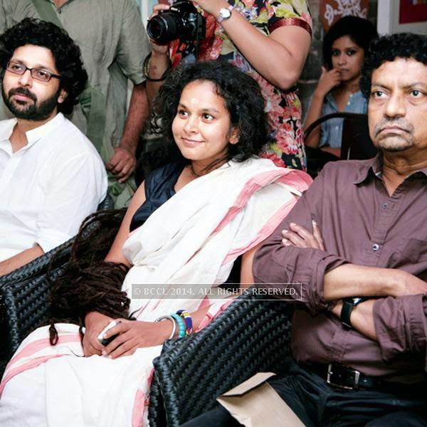 Joy Sarkar, Parvathy Baul and Goutam Ghose during Sohoj Parav, held at a city restaurant.