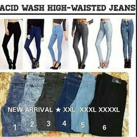 Seluar jeans high waist murah