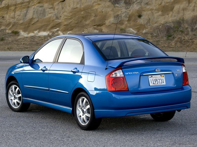 2006 kia spectra sedan specifications pictures prices. Black Bedroom Furniture Sets. Home Design Ideas