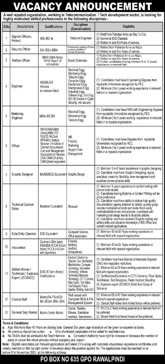 Public Sector Organization Jobs October 2020