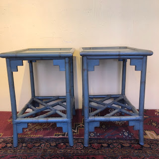 Bamboo End Table Pair
