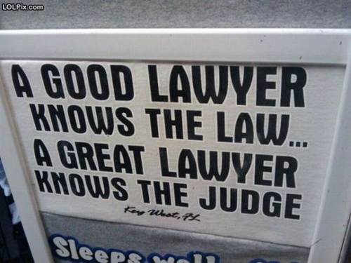 Photo of a funny lawyer sign