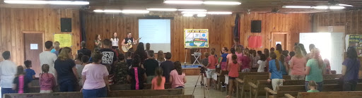 This is super: 5 dozen kids singing songs to Jesus! A good number of these kids come from unchurched homes, so the teaching they get this week is foundational and vital to them.