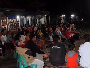 Photo: Wednesday evening we were at Hera Ketiga (day 3 of evening ministry)village and this was an open air outdoors service.
