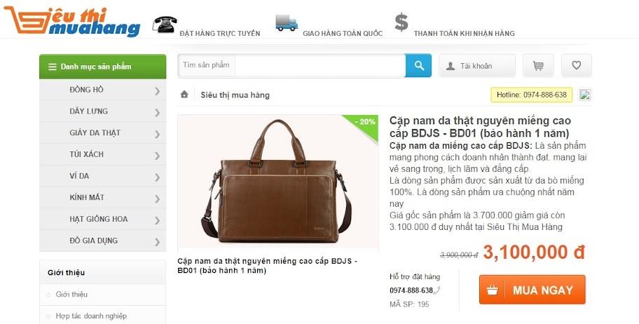 Website bán hàng thời trang trực tuyến STMH
