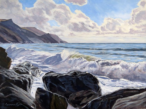 Millook Haven. Artist Lawrence Dyer