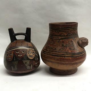 Tribal Ceramic Pair Vases
