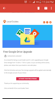 Google Local Guides free 1TB