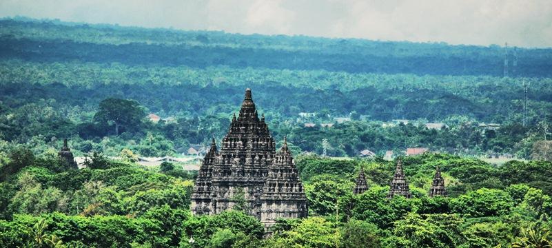 Prambanan Amidst The Greens