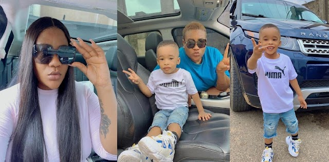 'Na Here All My Money Dey Go'– Nkechi Blessing Says As She Flaunts Her Son's Puma Drip For End Of The Term Party (Photos)