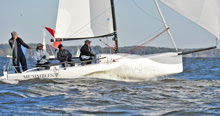J/70 sailing on Chesapeake bay