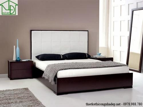 Tựa đầu giường được bọc đệm