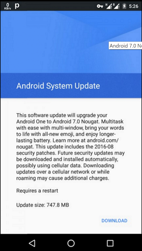 Google starts updating Android One Devices to Nougat, Infinix Hot 2 Users Get Ready 1