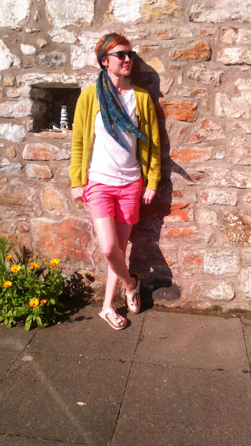 headscarf and shorts over 40