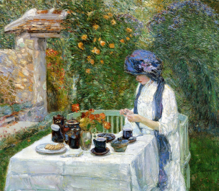 Childe Hassam - French Tea Garden