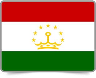 Tajikistani framed flag icons with box shadow