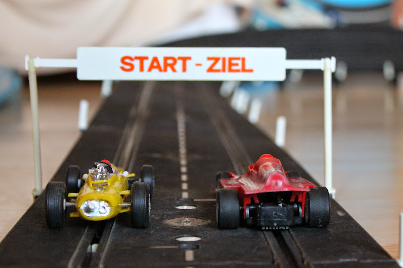 Prefo Autorennbahn - Start und Ziel
