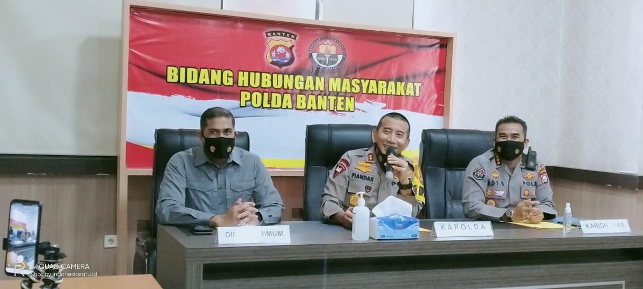 Polda Banten Amankan 14 Orang Dalam Aksi Unras Mahasiswa di Depan Kampus UIN Serang