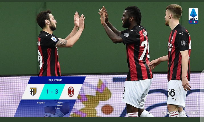Serie A: Ibrahimovic sent off in AC Milan 3-1 victory against Parma (Highlights) 2020-2021