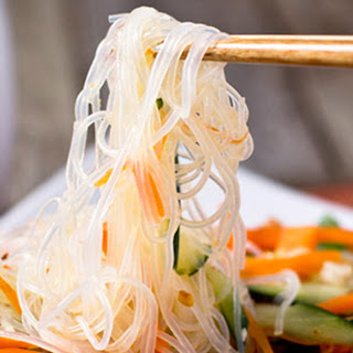 Carrot, Cucumber and Glass Noodle Salad.