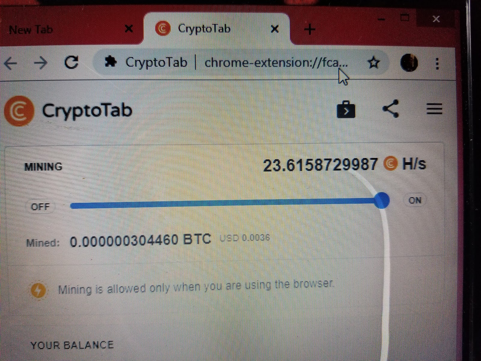 Earn 1 BTC in 23 Hours Free with Cryptotab Mining Browser