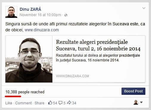Dinu Zară pe Facebook: Rezultatele alegerilor prezidentiale 2014
