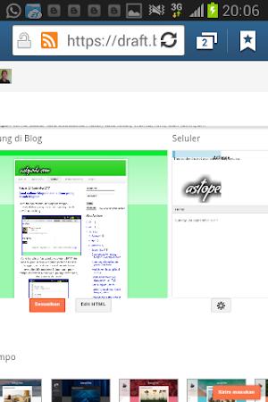 Membuat tampilan blogspot mobile/hp
