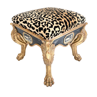 Gilt Lion's Paw Foot Bench
