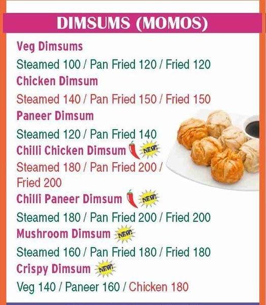 The Chow menu 8