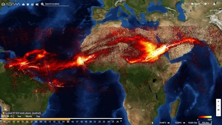 Έκρηξη ηφαιστείου Σουφριέρ στην Καραϊβική : Το νέφος διοξειδίου του θείου έφτασε μέχρι την Ινδία