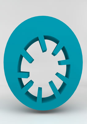 lettre 3D homme joker turquoise - 0 - images libres de droit