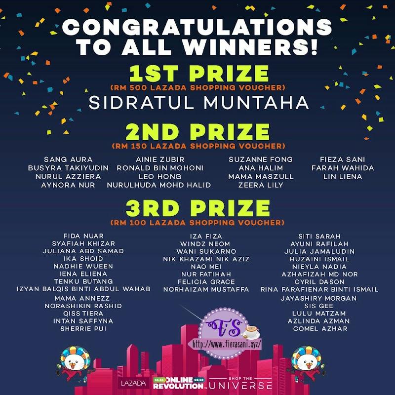 Menang Contest Lazada Online Revolution Blogger Contest