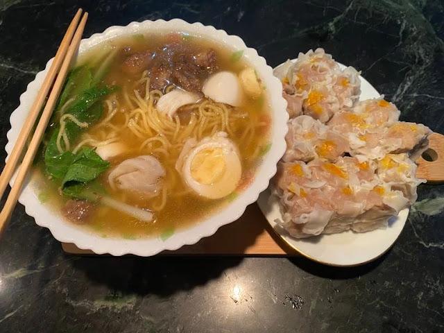 Mack Nam's beef mami and siomai
