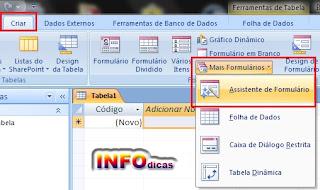 Access dicas importantes, access 2007, Banco de dados